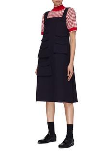 Shushu/Tong 格纹短袖高领针织衫
