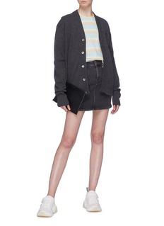 ACNE STUDIOS Neve Face表情徽章羊毛针织外套