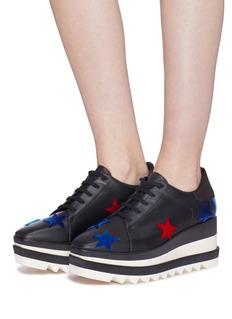 STELLA MCCARTNEY SNEAK-ELYSE五角星拼贴厚底德比鞋