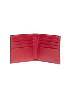 GUCCI 品牌标志真皮折叠钱包