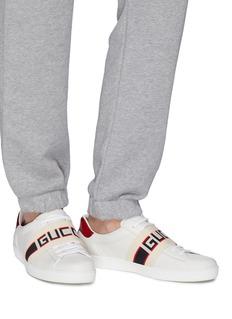 GUCCI 品牌名称搭带真皮运动鞋