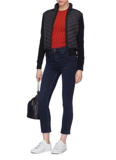 CANADA GOOSE HyBridge绗缝羽绒拼接美丽诺羊毛针织外套