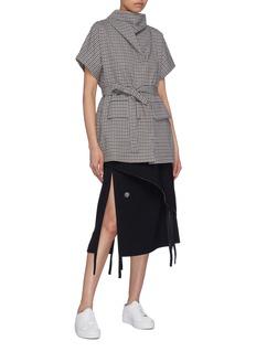 FFIXXED STUDIOS Leisure系带领巾格纹上衣