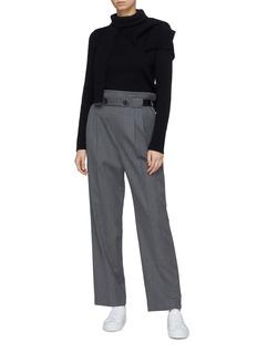 FFIXXED STUDIOS 搭叠布饰羊毛针织衫