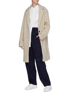 FFIXXED STUDIOS 抽绳直脚羊毛斜纹布长裤