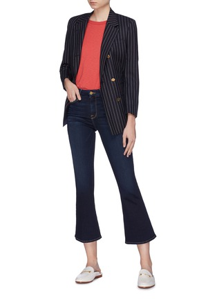 模特儿示范图 - 点击放大 - FRAME DENIM - Le Crop Mini Boot露踝喇叭牛仔裤