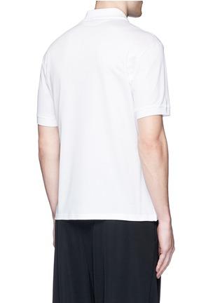 背面 - 点击放大 - Alexander McQueen - 玫瑰花胶印纯棉polo衫