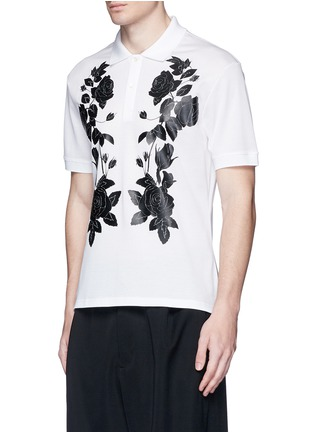 正面 -点击放大 - Alexander McQueen - 玫瑰花胶印纯棉polo衫