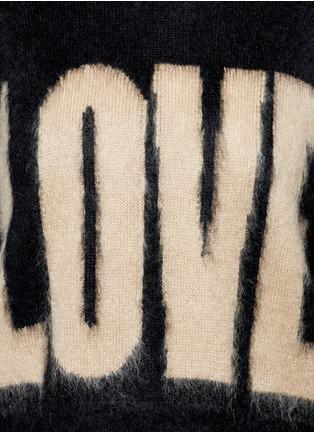 """细节 - 点击放大 - GIVENCHY - """"LOVE""""字母图案混马海毛针织衫"""