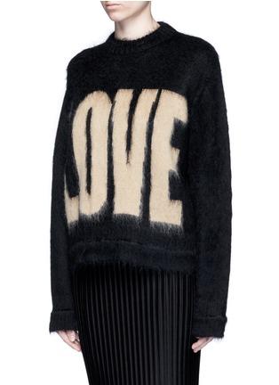"""正面 - 点击放大 - GIVENCHY - """"LOVE""""字母图案混马海毛针织衫"""