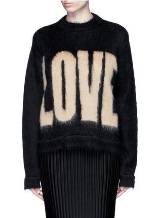 """首图 - 点击放大 - GIVENCHY - """"LOVE""""字母图案混马海毛针织衫"""