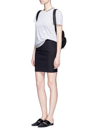 模特示范图 - 点击放大 - RAG & BONE/JEAN - 拼色纯棉T恤