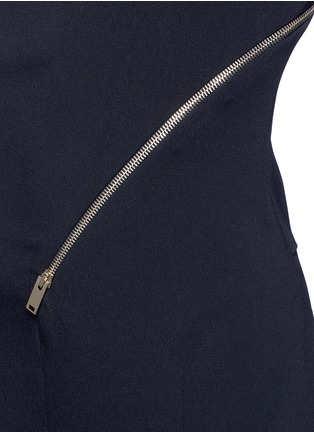 细节 - 点击放大 - STELLA MCCARTNEY - 单肩拉链装饰连体裤