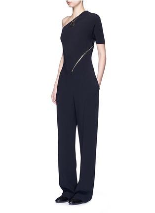 模特示范图 - 点击放大 - STELLA MCCARTNEY - 单肩拉链装饰连体裤