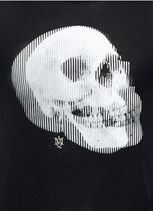 细节 - 点击放大 - Alexander McQueen - 双影骷髅头图案纯棉T恤