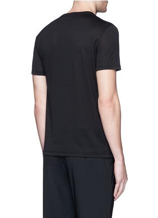 背面 - 点击放大 - Alexander McQueen - 双影骷髅头图案纯棉T恤