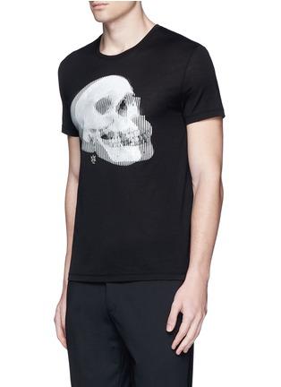 正面 -点击放大 - Alexander McQueen - 双影骷髅头图案纯棉T恤
