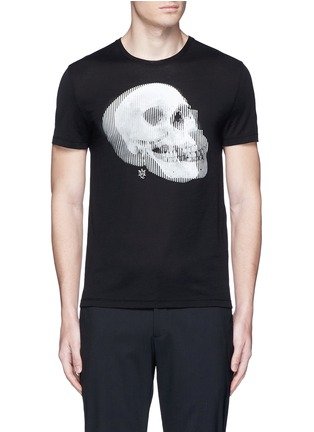 首图 - 点击放大 - Alexander McQueen - 双影骷髅头图案纯棉T恤