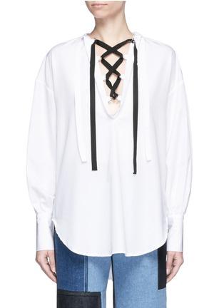 首图 - 点击放大 - TOME - 交叉系带装饰纯棉上衣