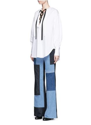模特示范图 - 点击放大 - TOME - 交叉系带装饰纯棉上衣