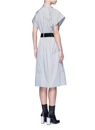 背面 - 点击放大 - TOME - 五角星拼贴条纹混棉衬衫裙