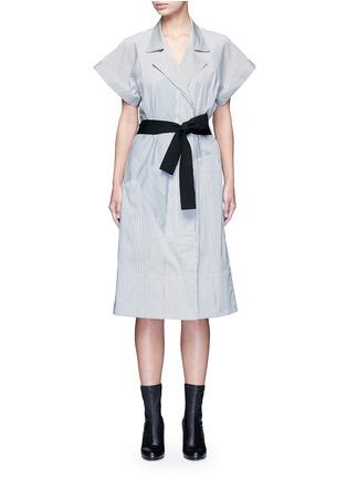 首图 - 点击放大 - TOME - 五角星拼贴条纹混棉衬衫裙