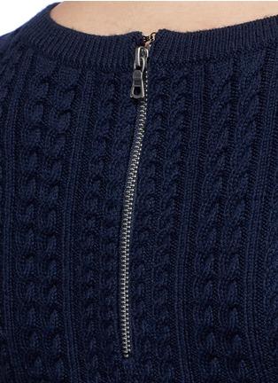 细节 - 点击放大 - alice + olivia - DACEY麻花条纹羊毛连衣裙
