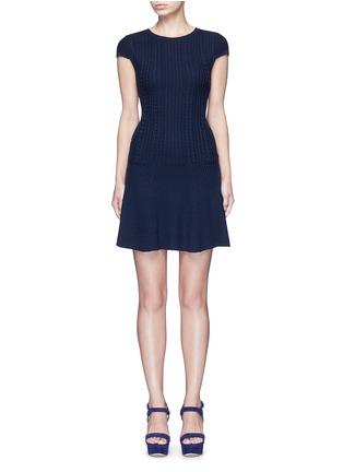 首图 - 点击放大 - alice + olivia - DACEY麻花条纹羊毛连衣裙