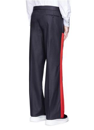 背面 - 点击放大 - ALEXANDER MCQUEEN - 条纹拼贴羊毛阔腿裤