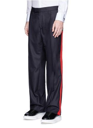 正面 -点击放大 - ALEXANDER MCQUEEN - 条纹拼贴羊毛阔腿裤