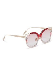 WHATEVER EYEWEAR 铆钉拼色板材猫眼平光镜