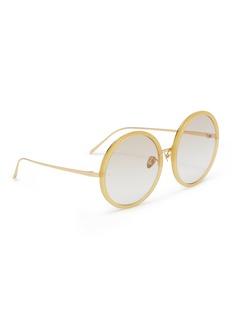 LINDA FARROW oversize圆框渐变太阳眼镜