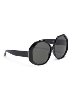 LINDA FARROW 六边形板材镜框太阳眼镜