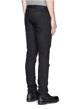 背面 - 点击放大 - SAINT LAURENT - 低腰修身磨破牛仔裤