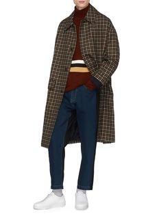 FFIXXED STUDIOS 拼色条纹立领羊毛针织衫