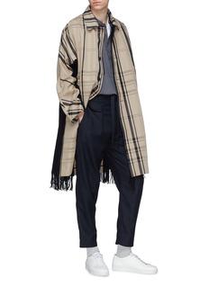 FFIXXED STUDIOS 暗格纹羊毛抽绳长裤