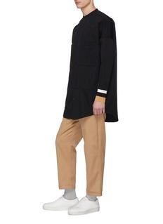 FFIXXED STUDIOS 拼色针织袖口羊毛斜纹布衬衫