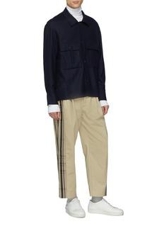 FFIXXED STUDIOS Double格纹布饰拼接斜纹布直脚长裤