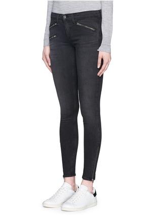 正面 -点击放大 - RAG & BONE/JEAN - 拉链装饰水洗牛仔裤