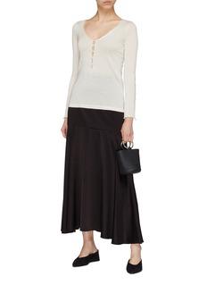 CRUSH Collection 镂空设计桑蚕丝混羊绒针织衫