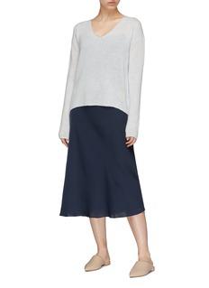 CRUSH Collection V领羊绒混桑蚕丝针织衫