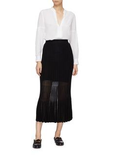 CRUSH Collection 金属丝线百褶针织半裙