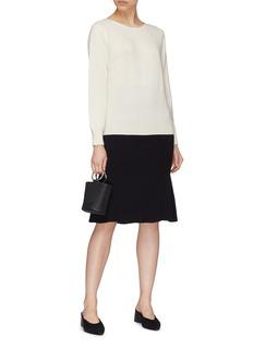 CRUSH Collection 背面开襟羊绒针织衫