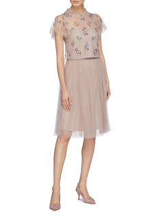 NEEDLE & THREAD Dotted波点网纱半身裙
