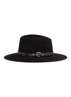 MAISON MICHEL Charles纹理帽带兔毛毡帽