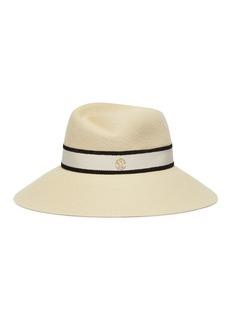 MAISON MICHEL Rose拼色罗缎帽带兔毛毡帽