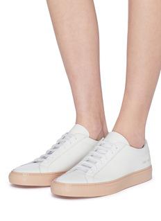 COMMON PROJECTS Achilles拼色鞋底真皮运动鞋