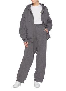 STELLA MCCARTNEY 初剪羊毛混羊驼毛低裆针织长裤