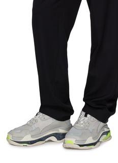 BALENCIAGA Triple S网眼布拼接真皮运动鞋