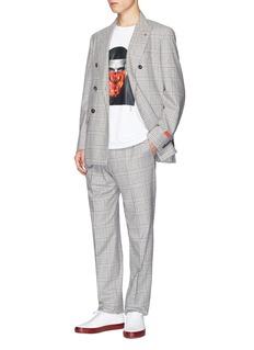 REILLY Drake中性款拼接人像图案纯棉T恤